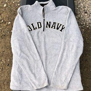 Quarter zip gray Old Navy sweatshirt